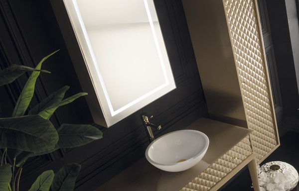Capitone 3005 Beige Vanity Console With Vessel Sink