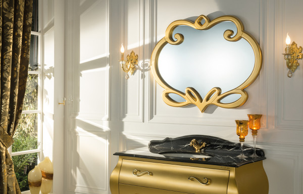 CUORE D' ORO GLOSSY GOLD VANITY