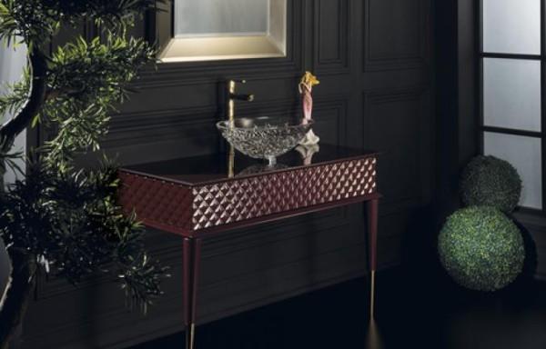 Capitone 3005 Burgundy Vanity Console