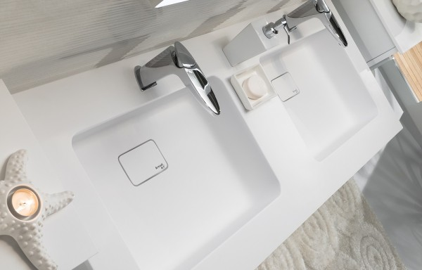 Flat 3103 Shiny White Double Sink
