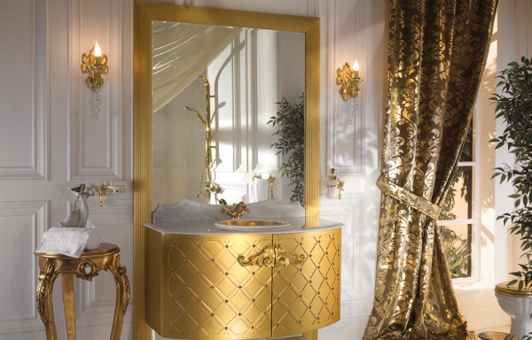 QUEEN GOLD WALL HUNG VANITY
