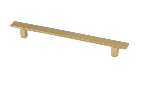 8105101280903 Matte Brass thin rectangular pull